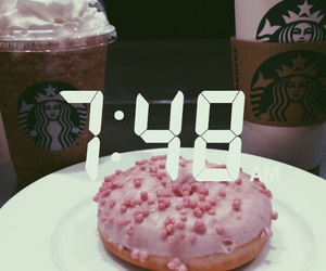 aesthetic, coffee, and donut image