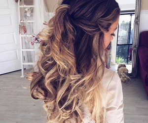 beauty, curly hair, and hair image