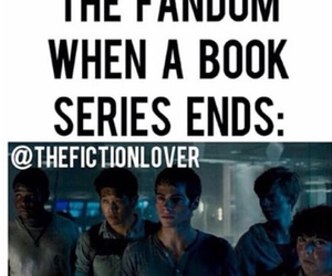 funny, books, and the maze runner image