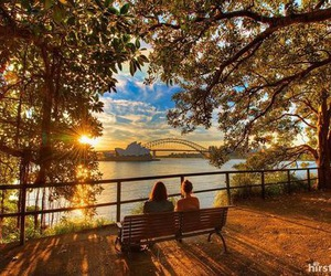australia, sunset, and Sydney image