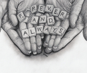 always, drawing, and forever image