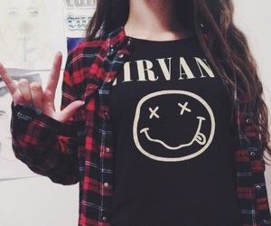 flannel, grunge, and nirvana image