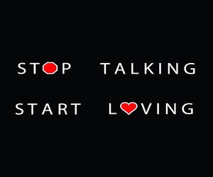talking or love image