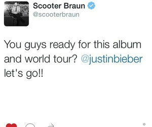 justin bieber, new album, and new tour image
