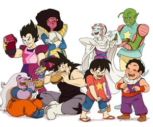 steven universe, dragon ball, and dragon ball z image