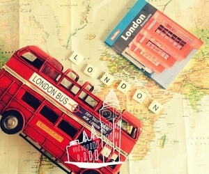 bus, map, and london image