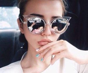 girl, fashion, and sunglasses image