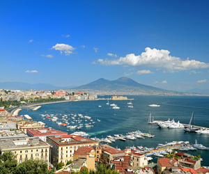 italy, Naples, and panorama image