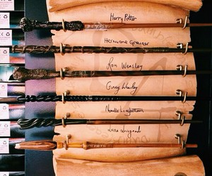 harry potter, wand, and ron image