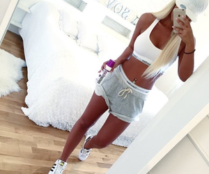 body, fitness, and blonde image