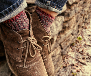 shoes, fall, and socks image