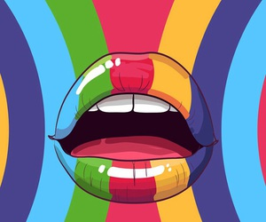 wallpaper and lips image