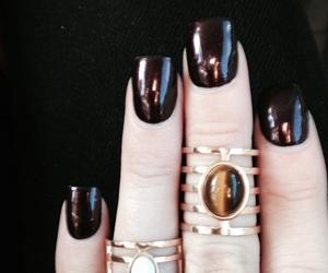 black, forever 21, and nail polish image