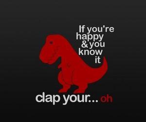 dinosaur, funny, and happy image