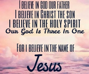 believe, Christ, and father image