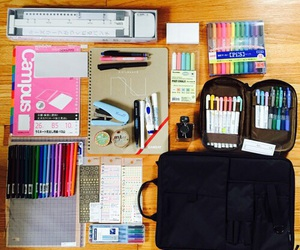 school, notes, and pens image