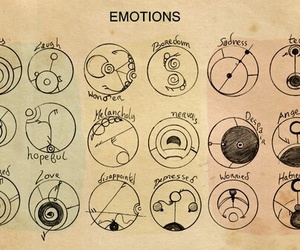 doctor who, emotions, and symbol image