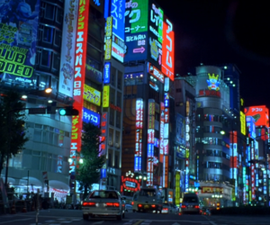 city, lights, and nights image