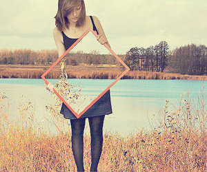 girl, photography, and mirror image