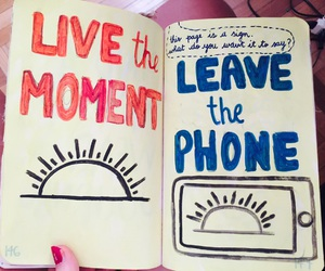 journal, leave, and live image