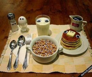 food, eyes, and breakfast image