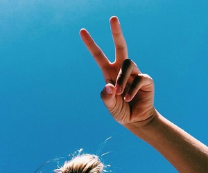 summer, girl, and peace image