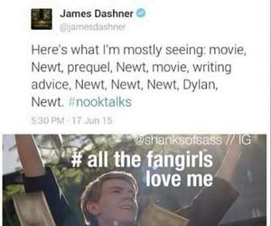 newt, dylan o'brien, and the maze runner image