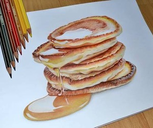 pancakes, art, and drawing image