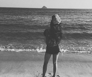 beach, black and white, and goals image