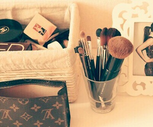 Louis Vuitton, lux, and makeup image