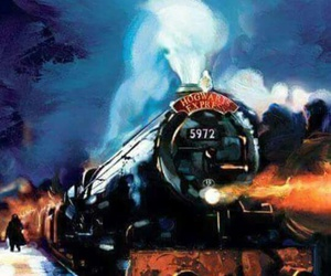 harry potter, hogwarts express, and hogwarts image