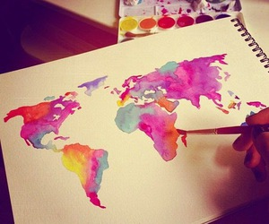 world, art, and colors image