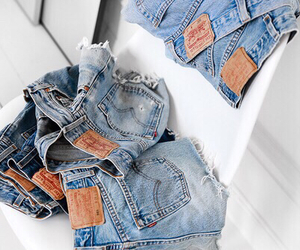 fashion, jeans, and shorts image