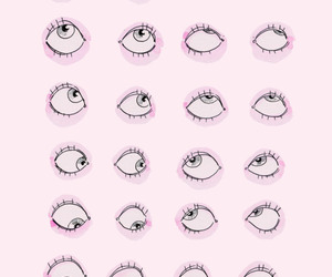 pink, wallpaper, and eyes image