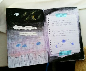 diary, galaxy, and journal image