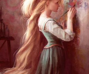 rapunzel, art, and tangled image