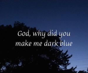 blue, dark, and sky image