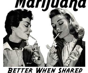 marijuana, weed, and smoke image