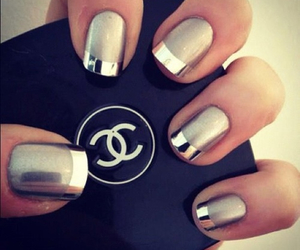coco chanel, nails, and silver image