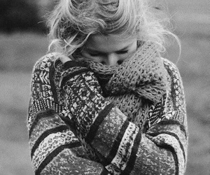 girl, winter, and black and white image