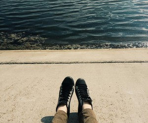 black, converse, and river image