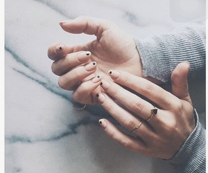 finger, gold, and hands image