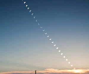 moon, sky, and sunset image