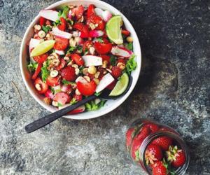 food, fruit salad, and FRUiTS image