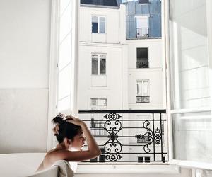 girl, white, and bath image