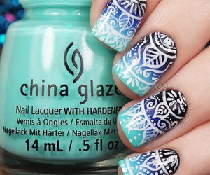 nails, blue, and design image