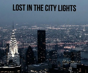 background, city, and lights image