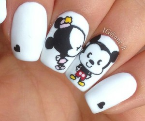 cool, white, and mickey and minnie image