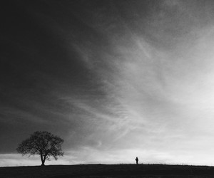 black&white, boy, and field image