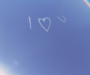 love, sky, and blue image